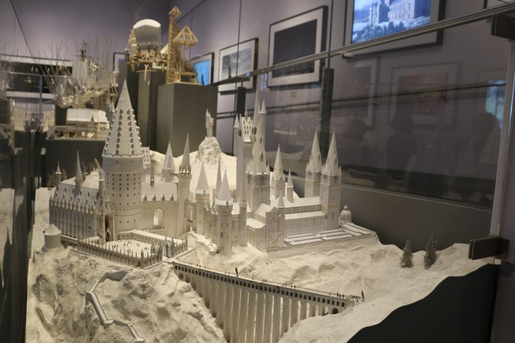 The first cardboard model of Hogwarts which was used to plan film shots.
