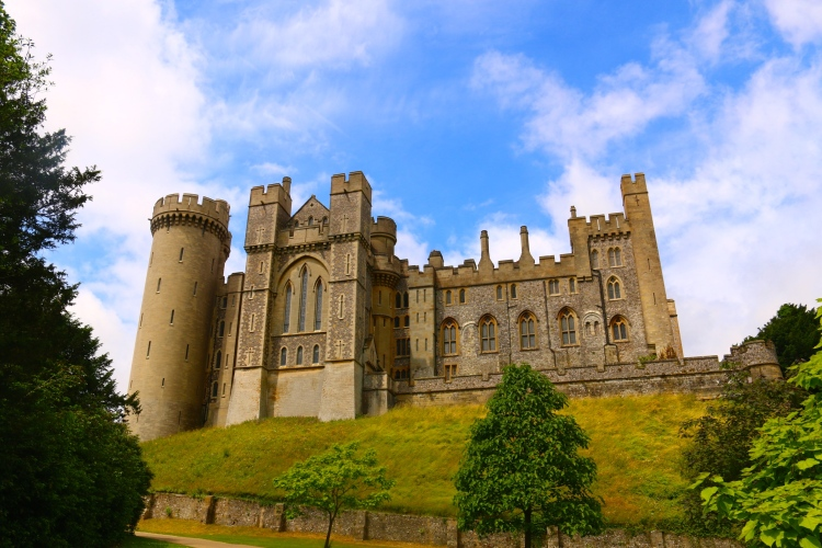 This is the view as you approach Arundel Castle. It is just amazing!
