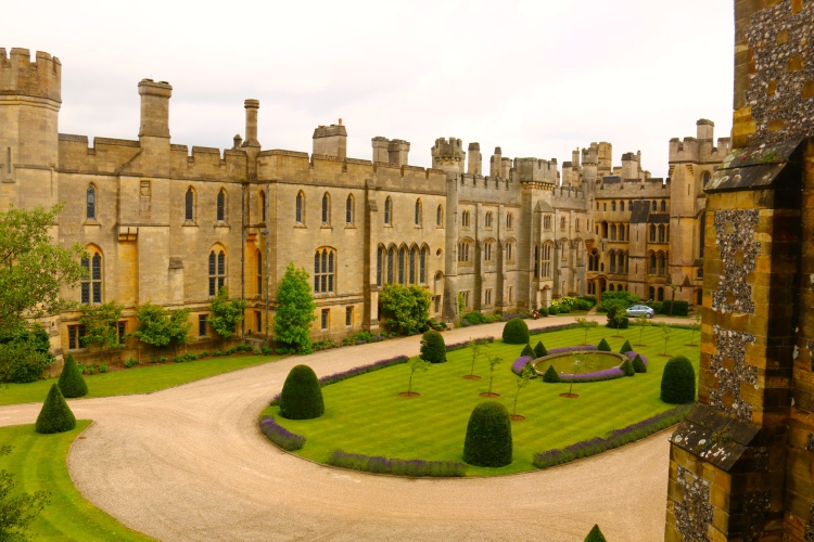 The part of the castle currently lived in by the Duke and Duchess of Norfolk.