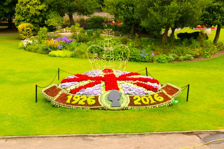 The beautiful floral displays at the Parade Gardens.