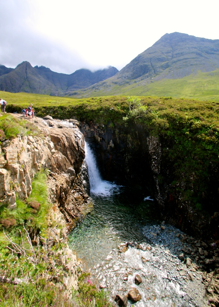 One of the waterfalls at the Fairy Pools.