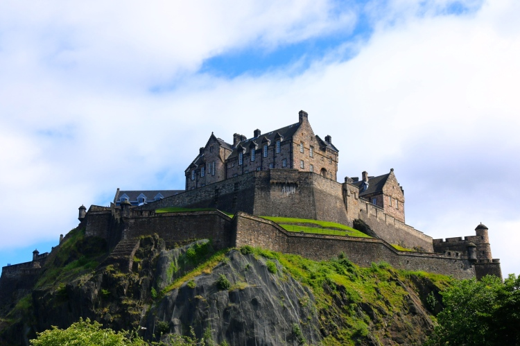 Edinburgh Castle, perched overlooking the city.