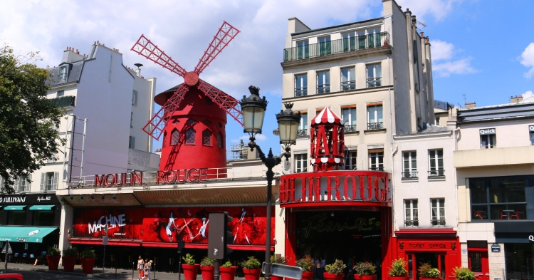 The Moulin Rouge! Note - if your kids can read, they'll find this street quite surprising!